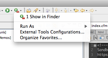 Run Show in Finder