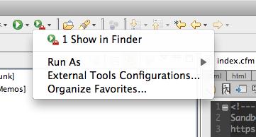 Run Show in Finder